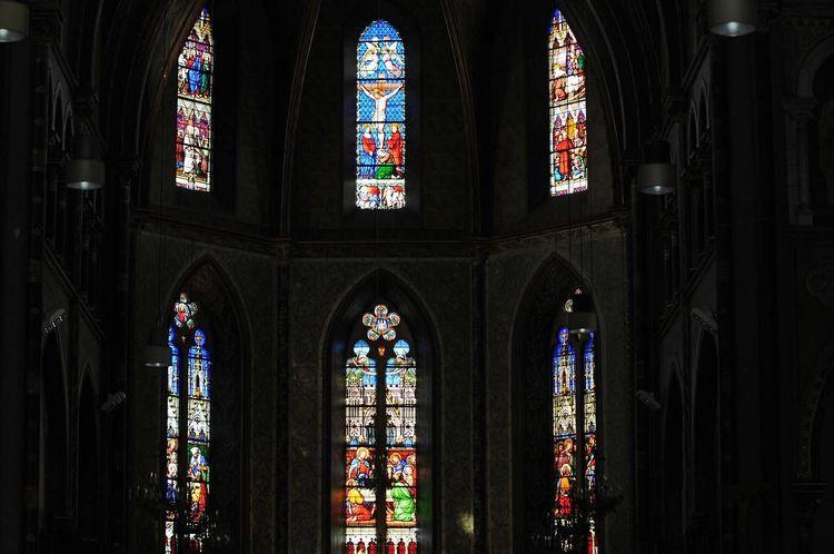 Vue chapelle vitraux - église Saint-Jacques de Pau