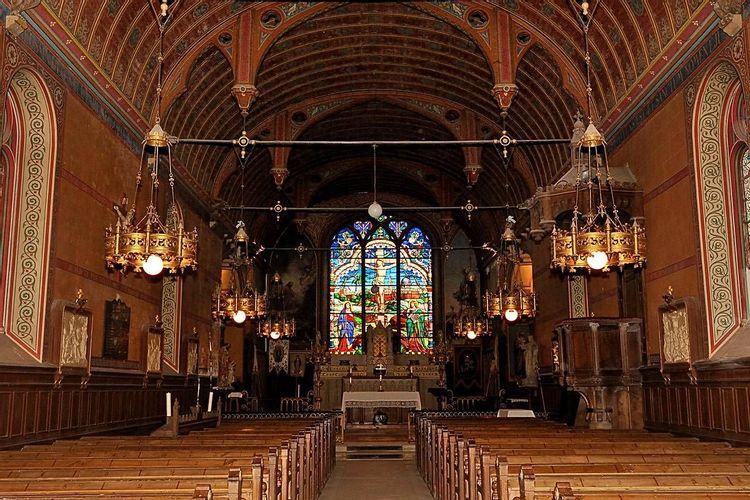nef centrale - eglise saint-julien de chevry-en-sereine