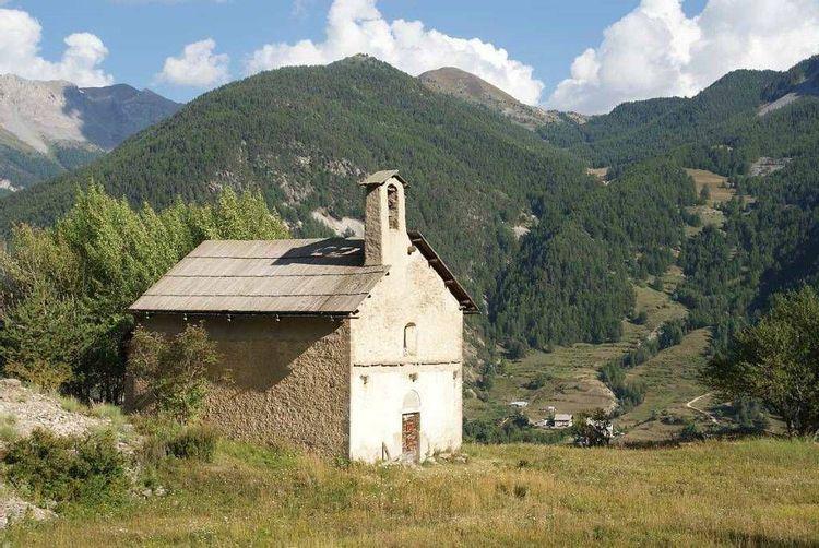 plan large sur la chapelle