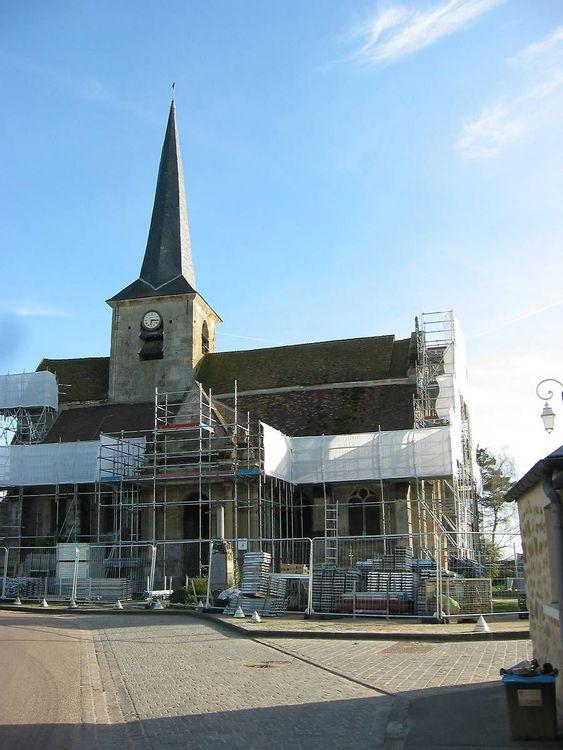 Restauration des façades de l'église Saint-Fiacre de Livilliers