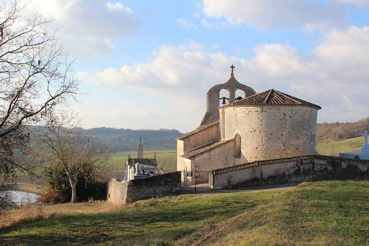 Vue église de dos