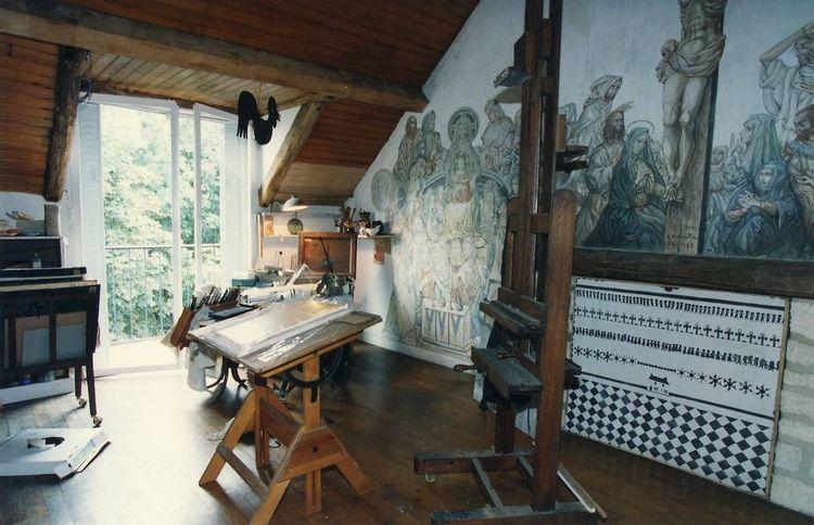 vue d'ensemble de l'atelier - maison-atelier foujita