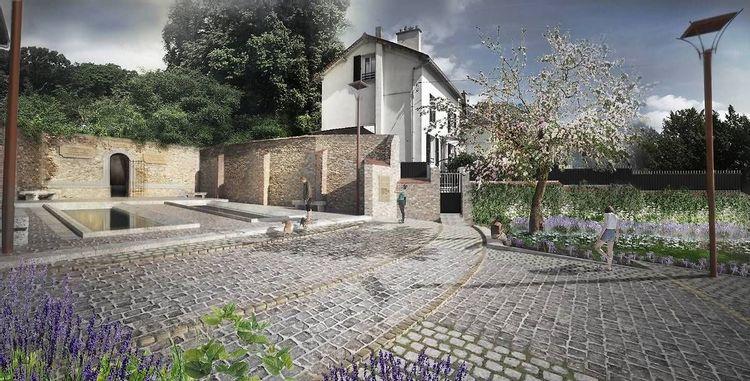 Projet projeté du lavoir du Chenet de Cormeilles-en-Parisis