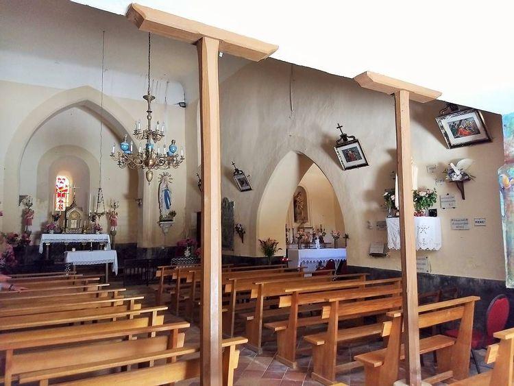 Intérieur nef - église Sainte-Marie