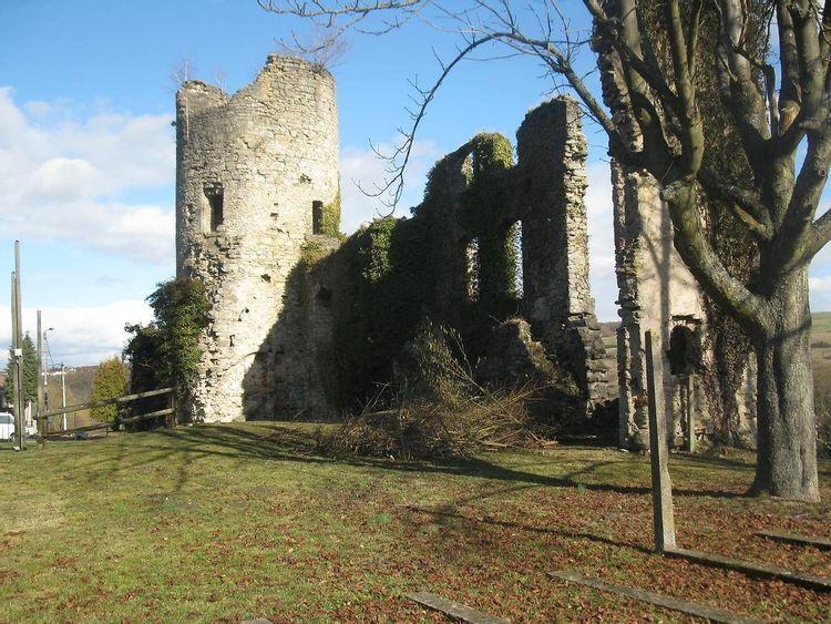Ruines du château de Frauenberg en Moselle