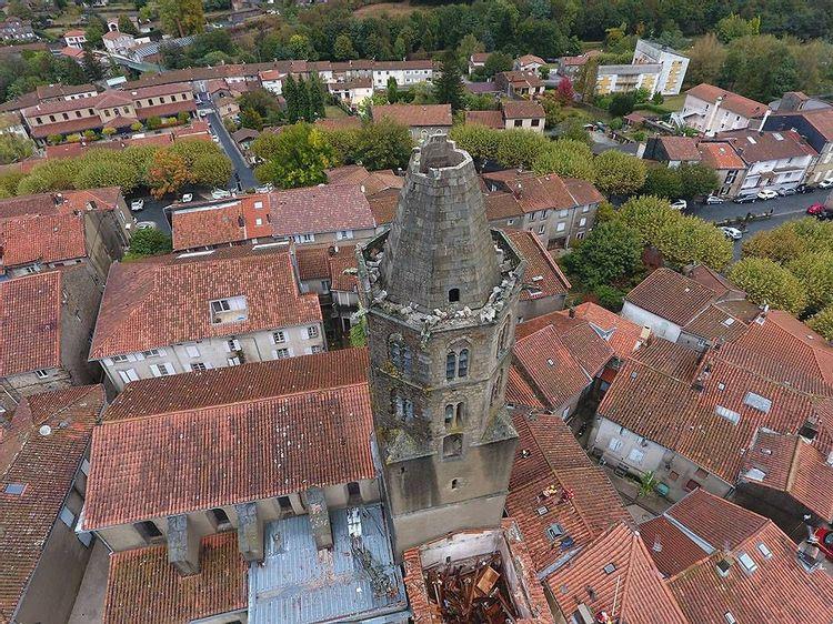 Clocher de l'église de Saint-Amans-Soult