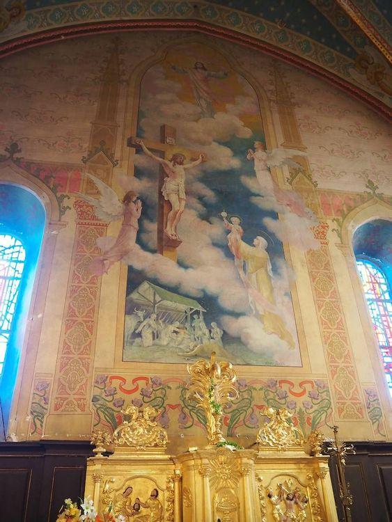 Peinture murale - Eglise Cazères-sur-l'Adour