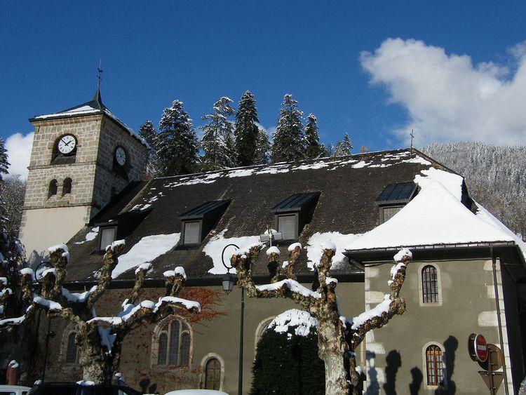 Eglise Notre-Dame de l'Assomption à Samoëns en Haute-Savoie