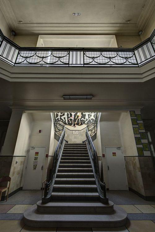 Escalier, Ecole de plein air de Pantin