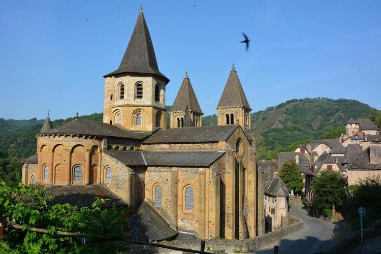Abbatiale de Sainte-Foy de Conques en Aveyron