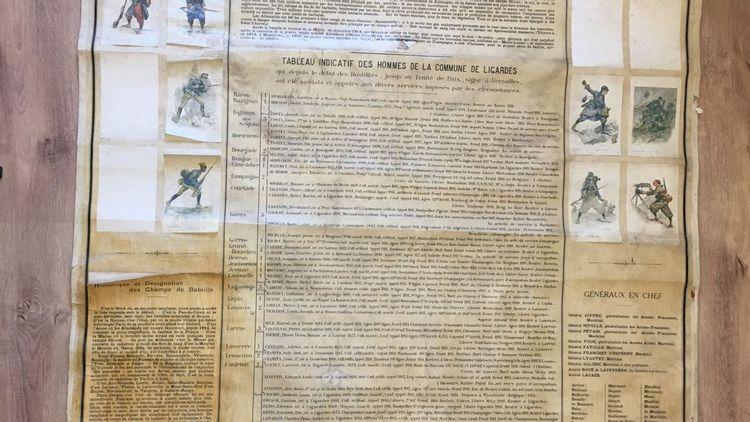 Affiche des anciens combattants de Ligardes