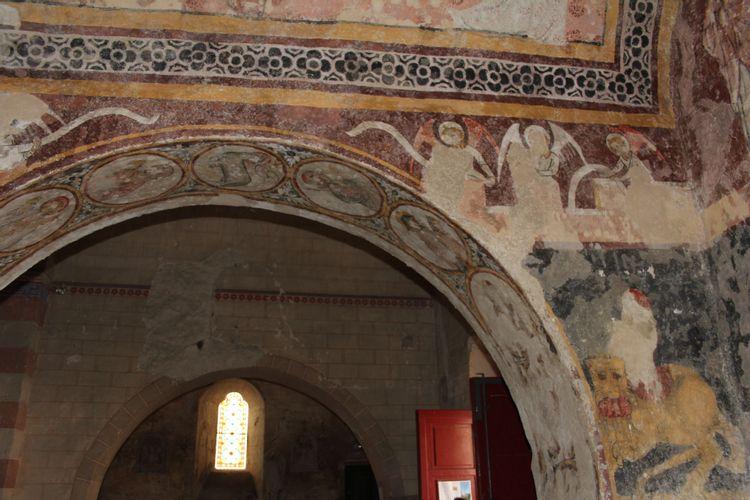peintures murales de l'eglise de saulcet
