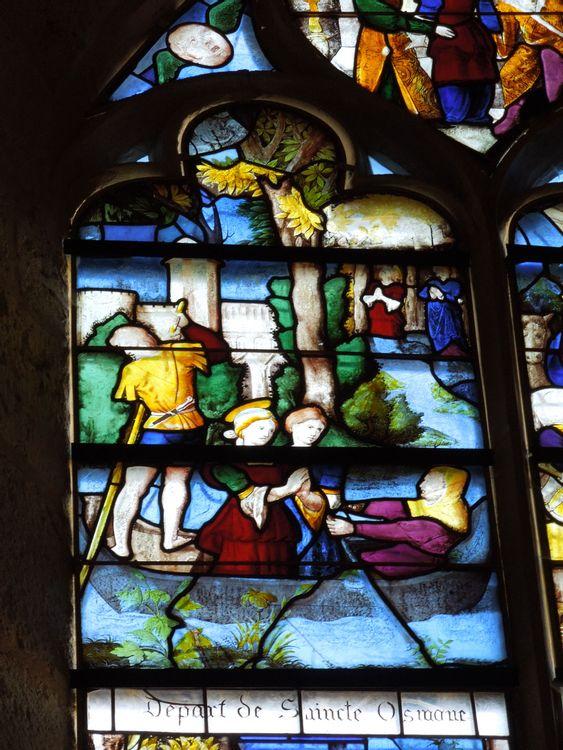 Vitrail de l'église Sainte-Osmanne de Féricy