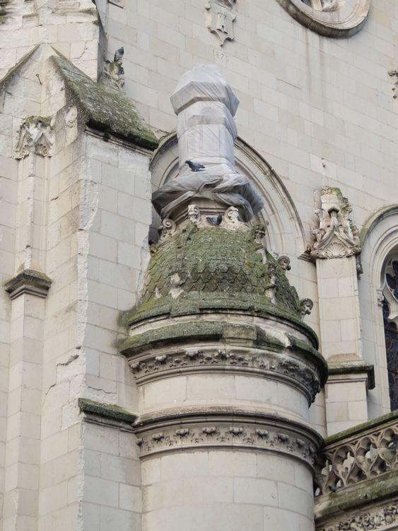 Détail chapelle rayonnante église Notre Dame
