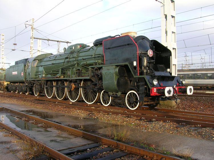 Locomotive Traction Vapeur 241 P9 à Toulouse (31)