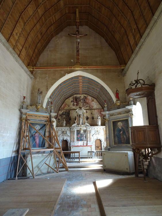 Vue intérieure de l'église