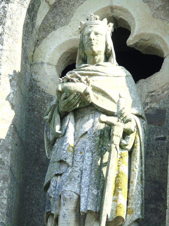 Détail d'une statue