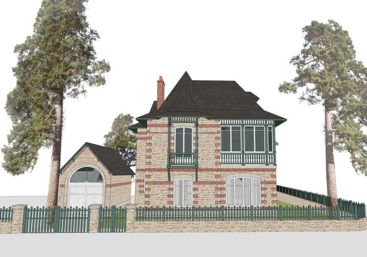 Plan de la villa balnéaire