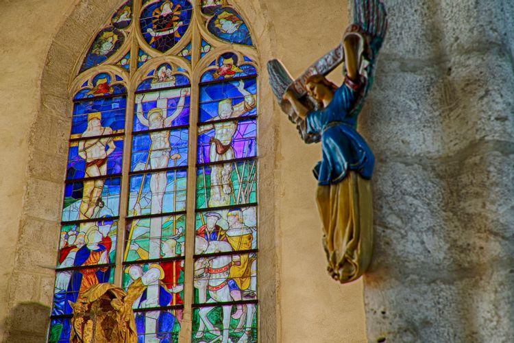 Vitraux de l'église Sainte-Osmanne de Féricy
