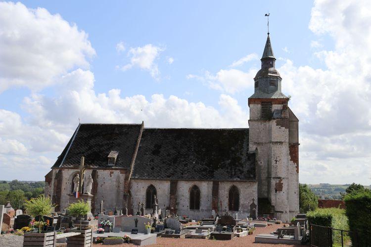 Eglise Saint Leu d'Huby dans le Pas-de-Calais
