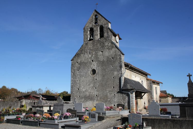 Église Saint-Jacques d'Aubert à Moulis