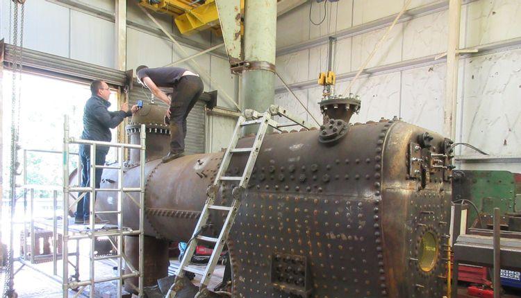 Épreuve hydraulique - Locomotive à vapeur Decauville