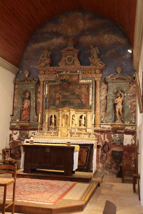 Le retable de l'église de Louvigny