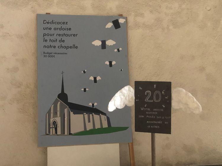 Affiche crée pour la collecte de dons