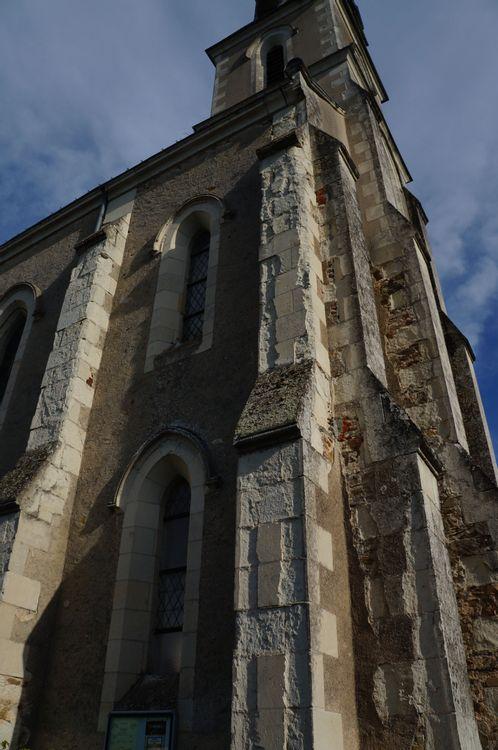 contrefort nef nord église de Carbay