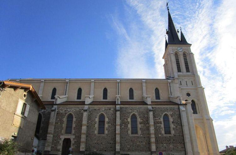 Eglise de Fleurie dans le Rhône