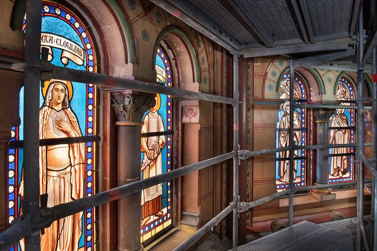 Décors peints du chœur de l'église Saint-Clodoald