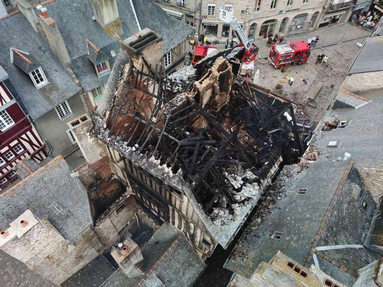 la mère pourcel à dinan après l'incendie