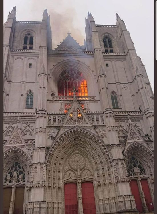 Incendie de la cathédrale