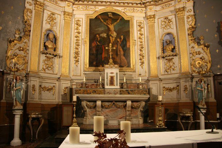 Retable et maitre autel de l'église de Bouloc