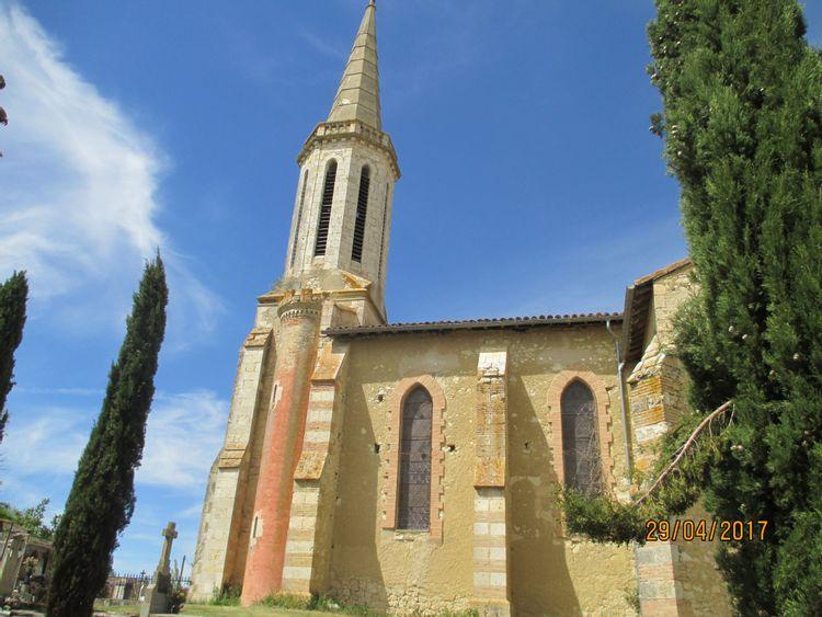 Eglise Saint-Augustin à Serempuy