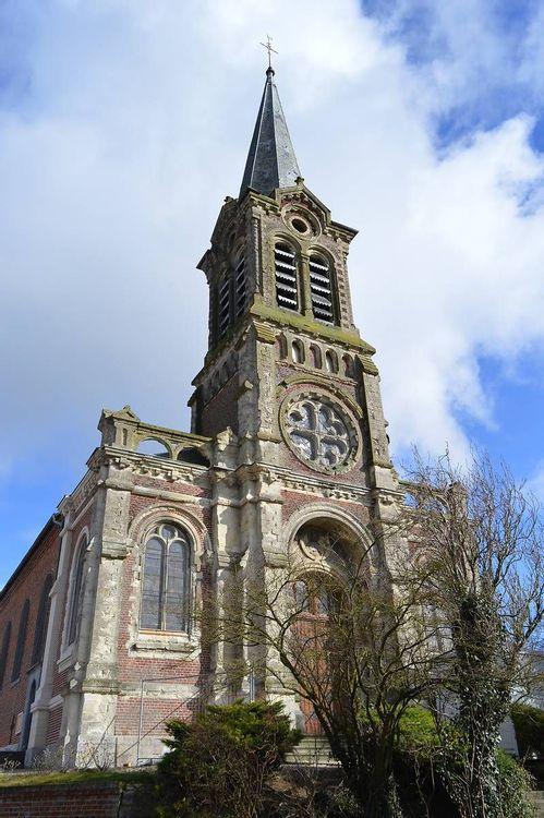 Clocher de l'église Saint-Rémy de Rombies