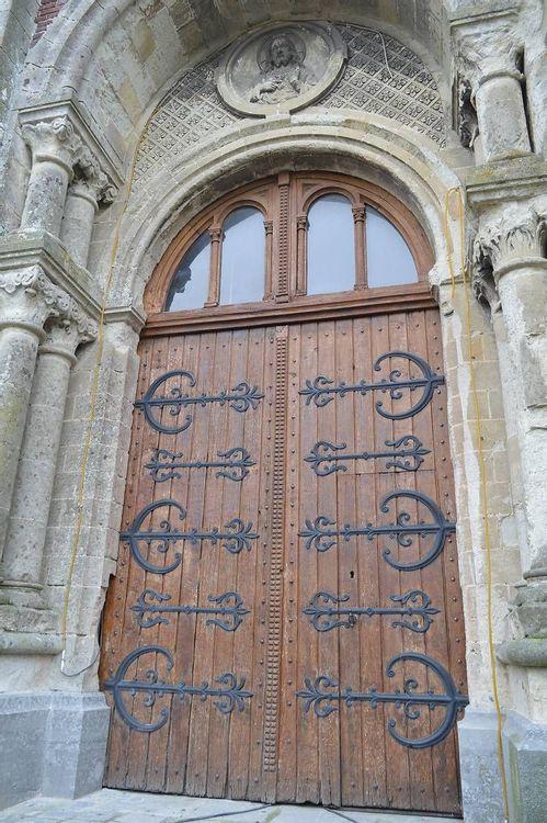 Clocher de l'église Saint-Rémy de Rombies - détail