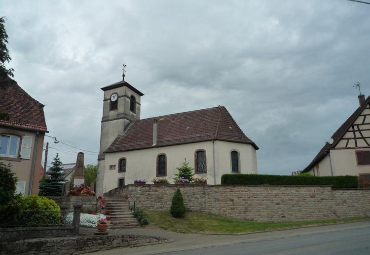 le temple protestant d'asswiller