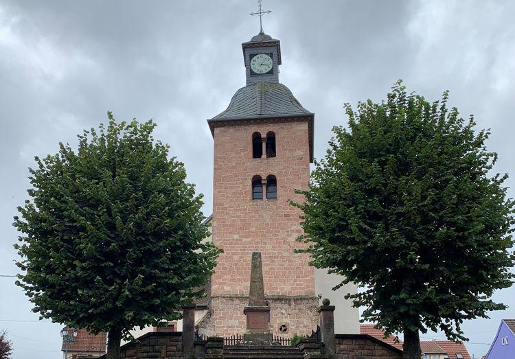 Beffroi et orgue de l'église Saint Jean-Baptiste de Fouchy
