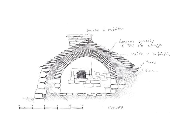 Etat projeté du four à pain de Ségur-les-Villas