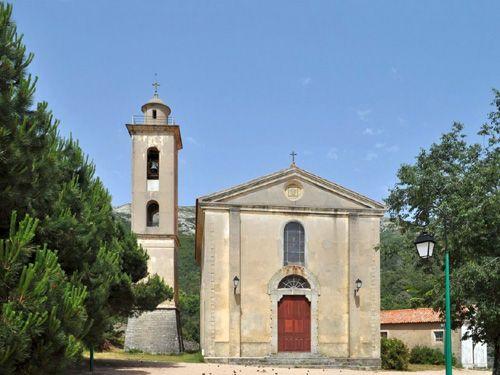 Vitraux de l'église Sainte-Célestine en Corse-du-Sud