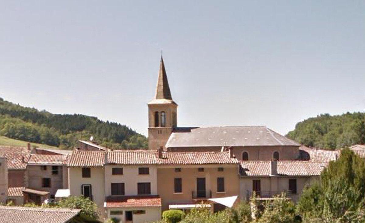 Église de Villeneuve d'Olmes dans l'Ariège