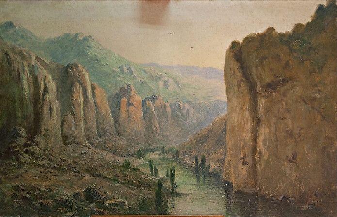 """tableau """"la vallée du lot"""" d'eugène viala à rodez"""