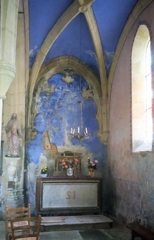 Retable de l'église de Nadaillac-de-Rouge dans le Lot
