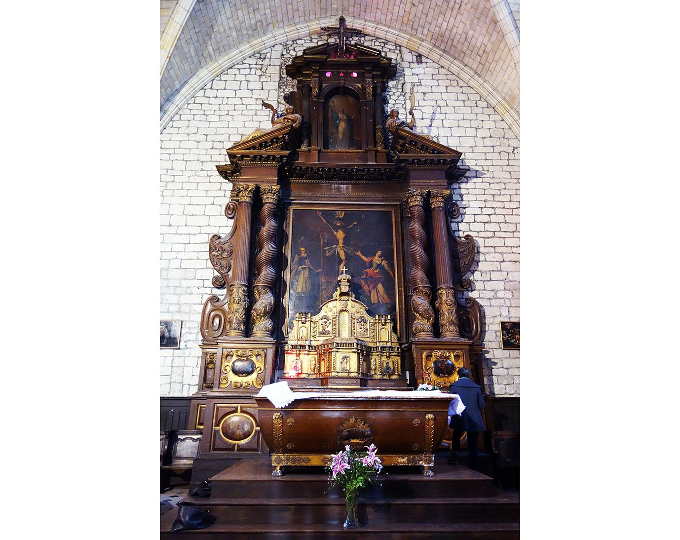 Retable de l'église Saint-Pierre à Castillonnès