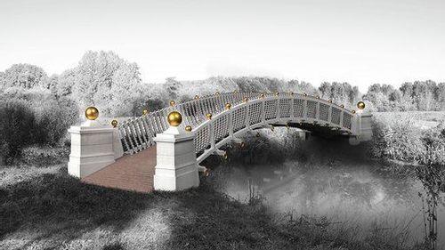 Le pont aux boules d'or du domaine de Méréville