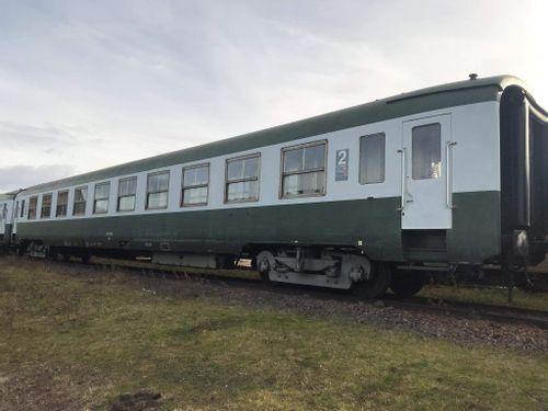 Voitures du train à vapeur à Clermont-Ferrand