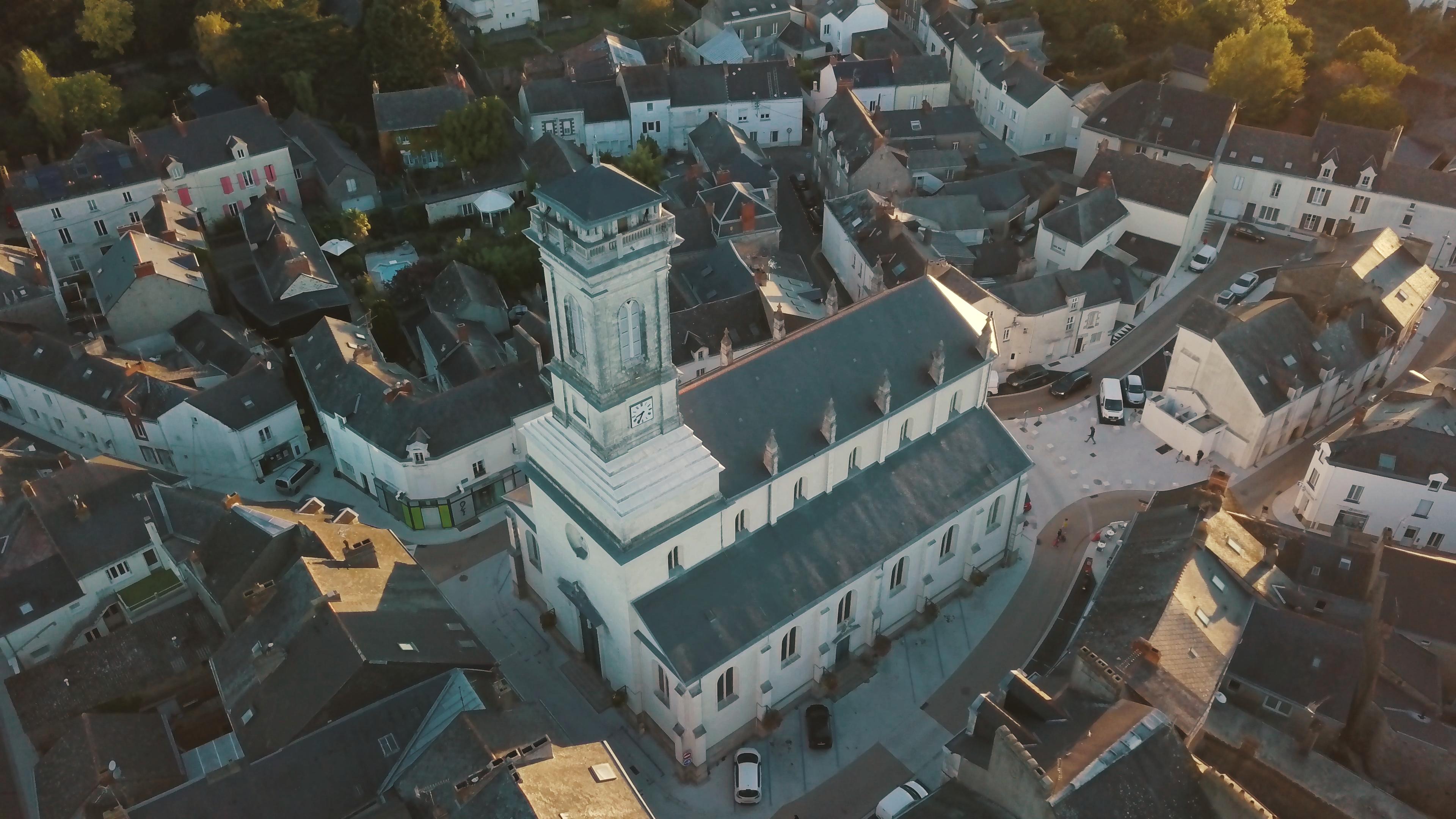 Beffroi de l'église de Saint-Etienne de Montluc en Loire Atlantique