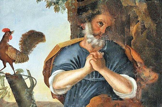 détail d'un des tableaux de l'église