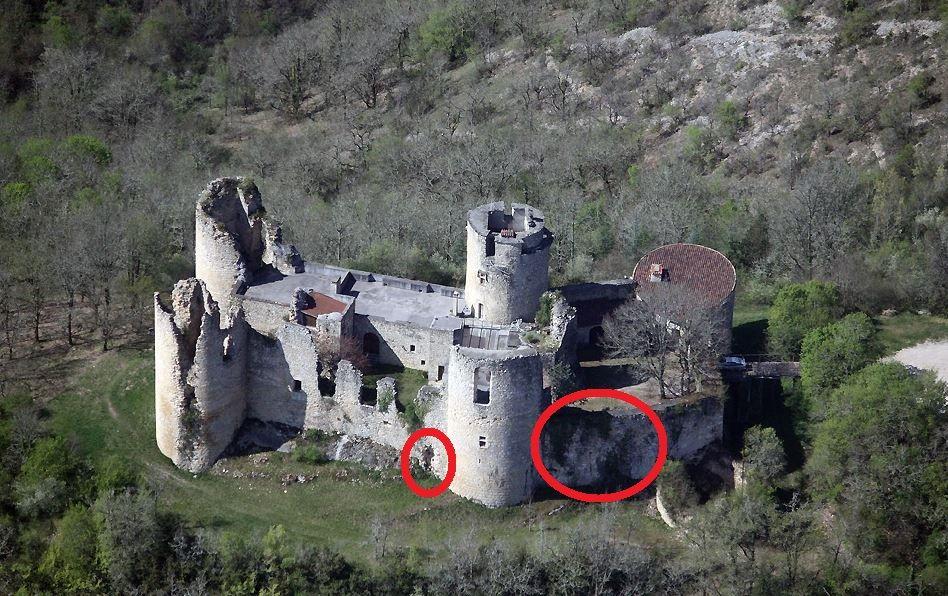 Château de Roussillon dans le Lot